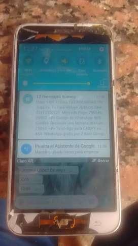 Samsung j3 liberado , pantalla astillada