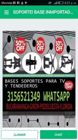 #Repisas y modulares en madera tv bases,con SOPORTE vidrio sobre medidas tendederos con su soporte