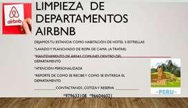 Limpieza departamentos airbnb