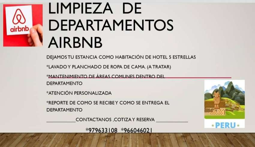 Limpieza departamentos airbnb 0