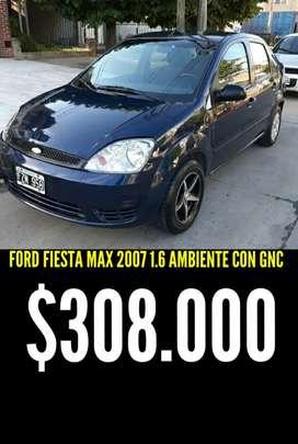FORD FIESTA MAX 2007 1.6 AMBIENTE PLUS CON GNC