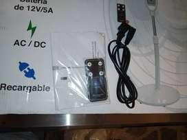 Ventilador Multitech Recargable Blanco MT-RFA1602