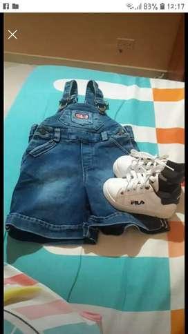Overol y zapatos