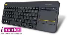 Teclado inalámbrico Logitech K400 plus ideal para smart tv