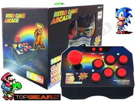 Consola Tipo Arcade 145 Juegos Retro SNES 16bits Joystick 6 botones