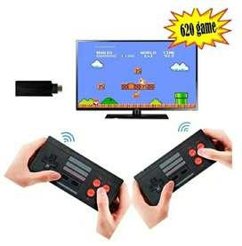 Mini consola video juegos videojuegos nintendo retro de 620 juegos inalámbrico inalámbrica para tv televisor sin cables