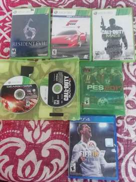 Juegos Xbox 360 y ps4