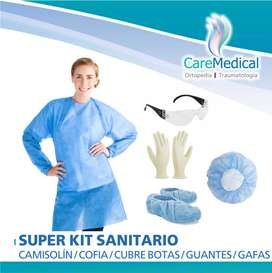 Cubre Botas, Guantes de Latex, Gafas de seguridad, Camisolin, Cofia Plisada - Ortopedia Care Medical