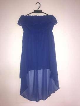 Vestido Estraple Fiesta Azul