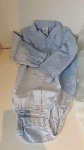 Camisa body cheeky 12/18 meses