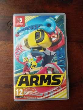 Videojuego Arms para Nintendo Switch con puño de relajación promocional extra.