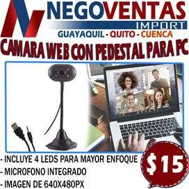 CAMARA WEB CON PEDESTAL PARA PC EN DESCUENTO EXCLUSIVO DE NEGOVENTAS