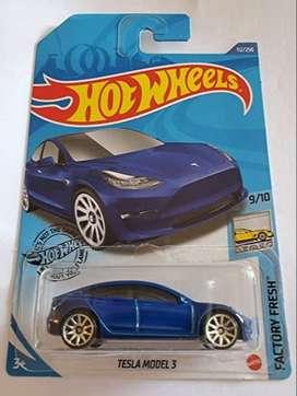 Hot Wheels Tesla Modelo 3 Azul  Factory Fresh