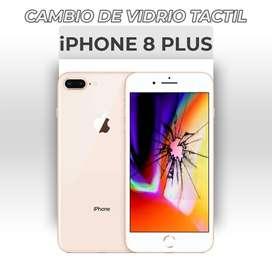 ¡Cambio de Vidrio Táctil Iphone 8 Plus!
