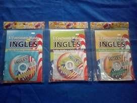 Material de Inglés básico intermedio y avanzado con cd.