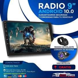 "Radio para carro de 9"" android con Wifi Gps Bluethot youtube Full HD"