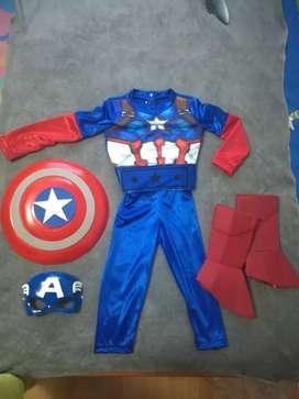 Disfraz de Thor y Capitan America. Avengers