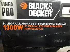 Vendo pulidora profesional black y decker
