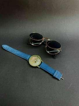 GRATIS Reloj por compra de gafas doradas - Lentes Doble
