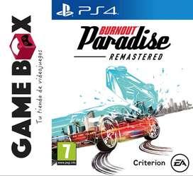 Burnout Paradise Remastered Ps4 - Juego en Disco Fisico - Nuevo de Paquete