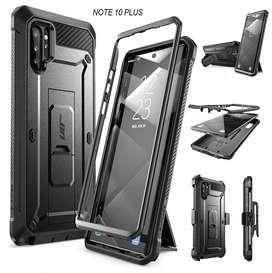 Case Galaxy Note 10 Y Plus S9 S10 Y Plus A50 A50s A30s S10e Note 9 8 Protector 360 Resistente Supcase con Gancho y Mica*