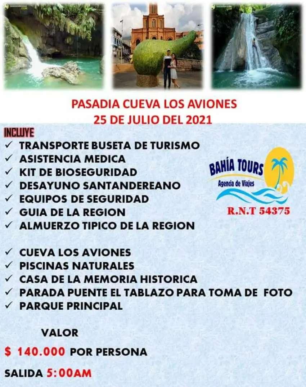 TOUR CUEVA LOS AVIONES