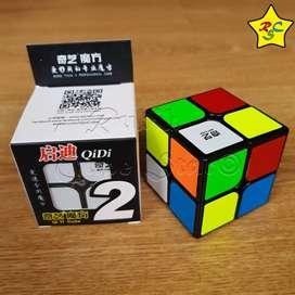Cubo Rubik 2x2 Original Qidi Qiyi Profesional Speedcube Sticker Negro