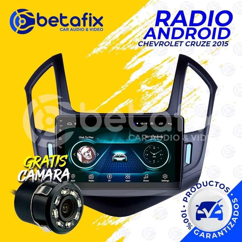 RADIO ANDROID PARA CHEVROLET CRUZE 2015-UP GPS BT USB WIFI BETAFIX 0