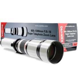 Lente Opteka 650-1300mm Telephoto Zoom