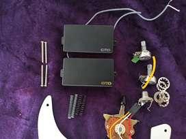 Microfonos humbucker pasivos EMG replic con accesorios