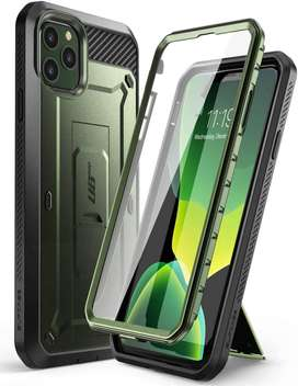 Case Funda iPhone 11 Pro Max (2019) Protector 360° Con Apoyo Supcase UB Pro VERDE MILITAR