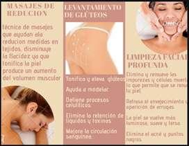 Promocion solo para mujeres masajes de reducción de medidas levantamiento de glúteos y más.