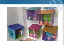 Casa de muñecas con accesorios importados