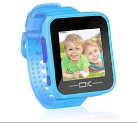 Reloj pussan niño color azul con juegos y cámara 3 -9 años