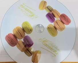 Plato giratorio para decoración de tortas, 30 cm por 2.5 cm de alto