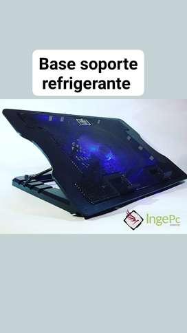 Base soporte refrigerante para laptop