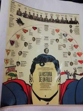 Afiche Original para Enmarcar Superman
