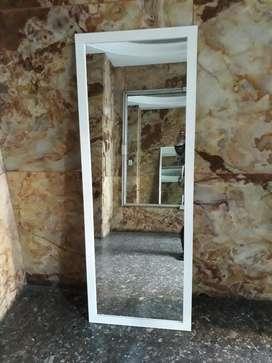 Espejo Marco de Madera Blanco