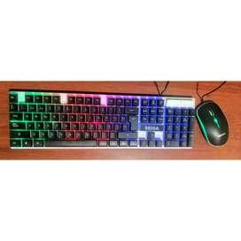 Combo Teclado+Mouse con luz