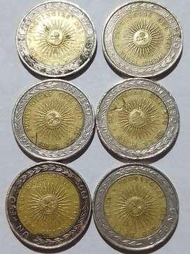 Monedas de 1 peso 1995 con error de impresión