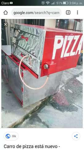 Remató carro de pizzas buen estado