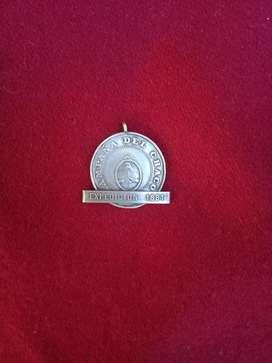 antigua medalla campaña del chaco expedicion 1881 plata