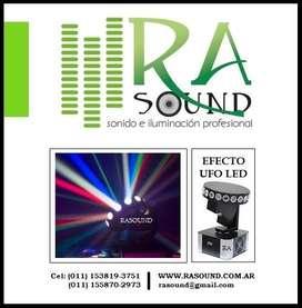 Alquiler de efecto led ufo audioritmico luces multicolor