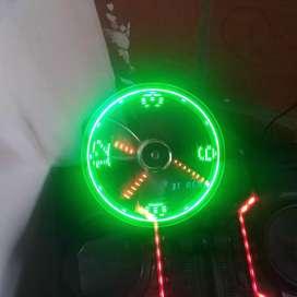 Vendo ventilador usb reloj led cambio x baul para moto