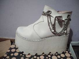 Zapatos Blancos usados