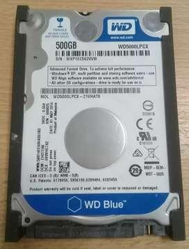 Vendo disco rigido de 500Gb