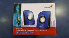 Parlantes Pequeño Genius 2.0, 2 Watts Usb Altavoz Sp-u115