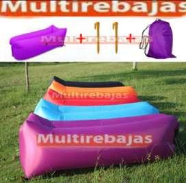 Puff Sofa Inflable Bag Colores Distintos Para Descansar