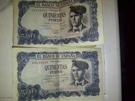Antiguo Billete 500 Pesetas 1971