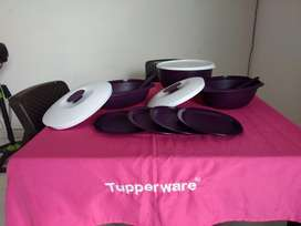 Set Cena Navideña Tupperware